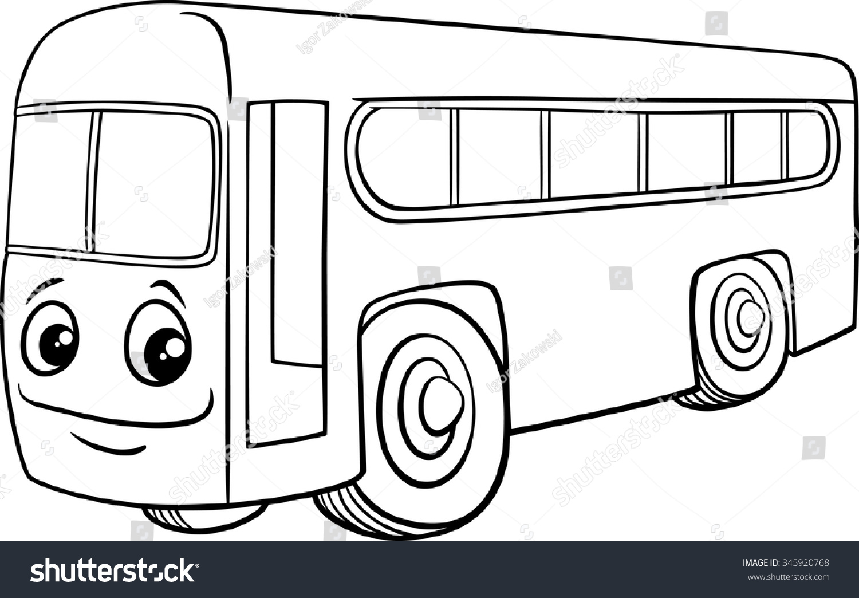 Black White Cartoon Vector Illustration School Stock