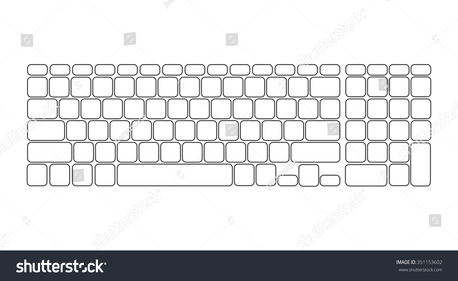Clip Art Of Blank Qwerty Keyboard Cliparts