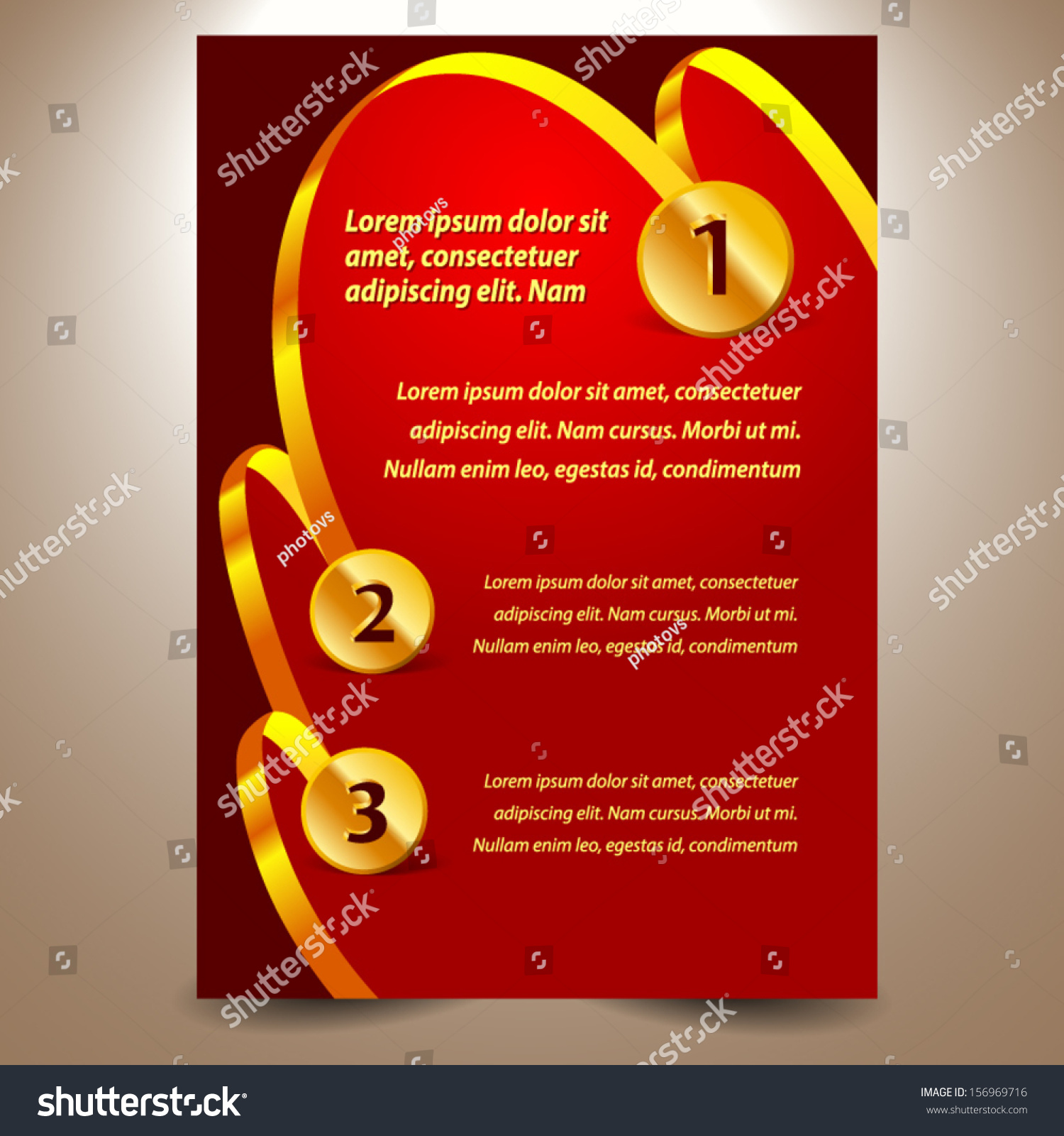 Blank Design Template Certificate Ribbon Award Stock Vector 156969716 Shutterstock