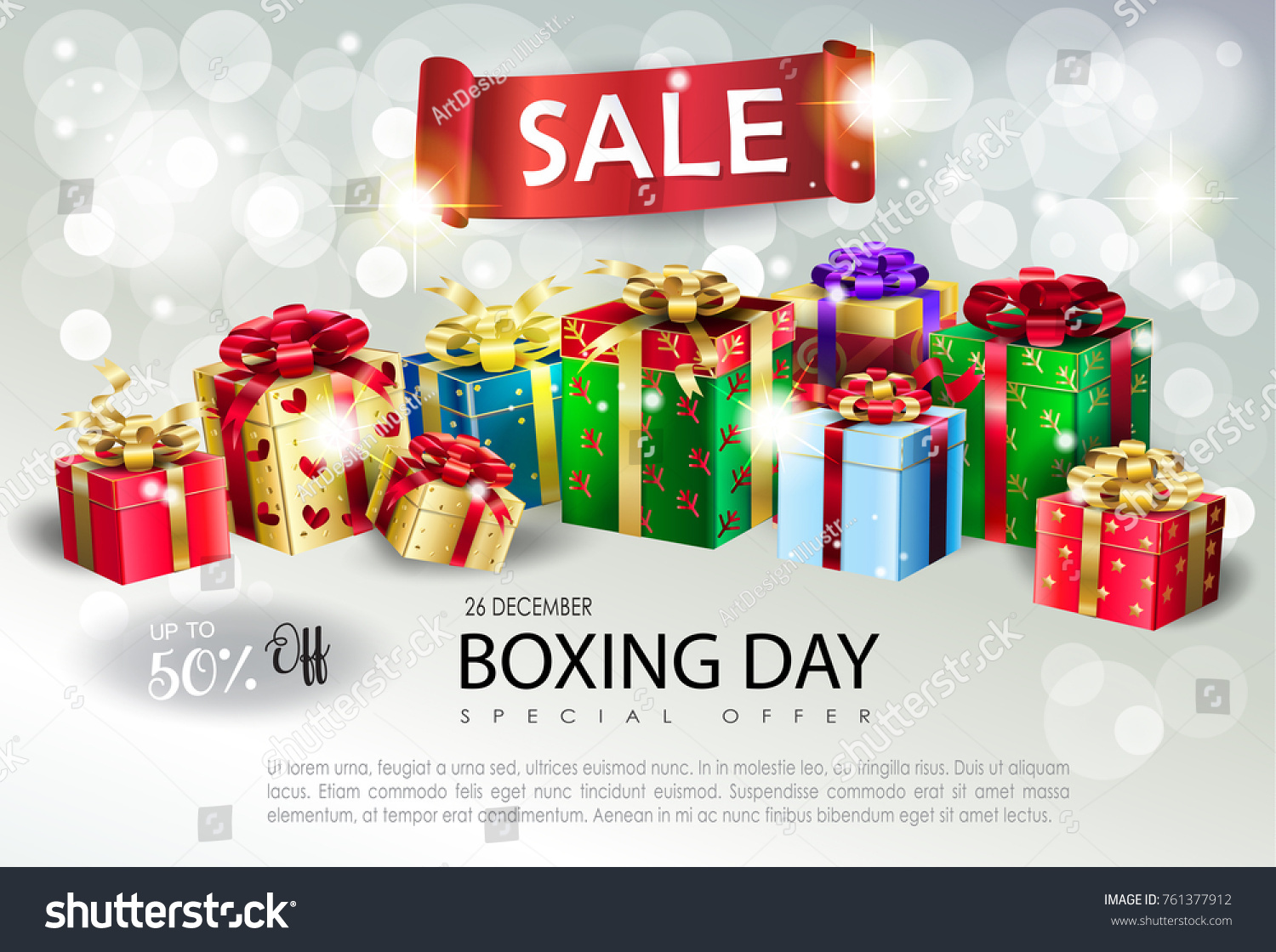 boxing day new year poster