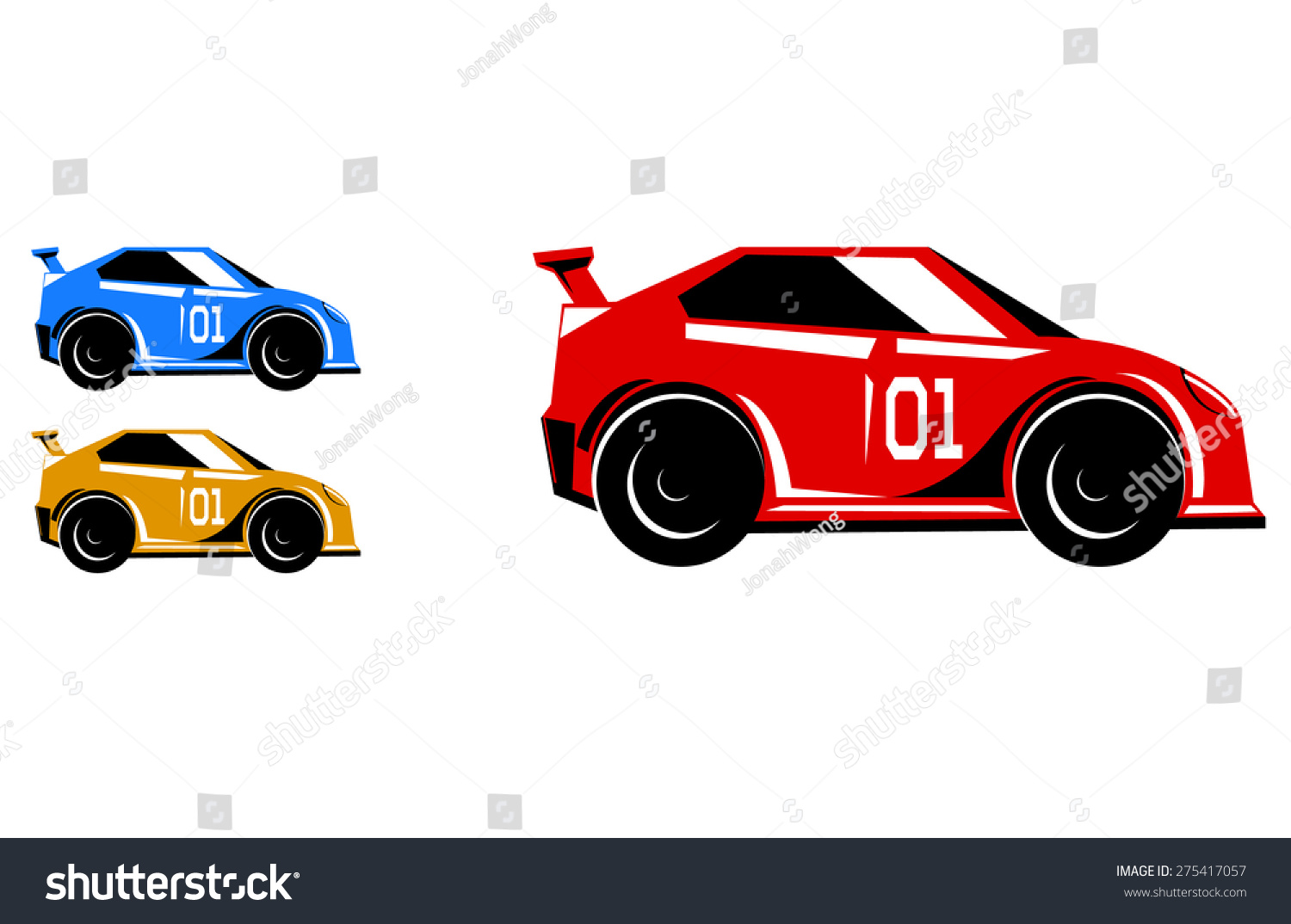 Buggy Shape Race Car Vector
