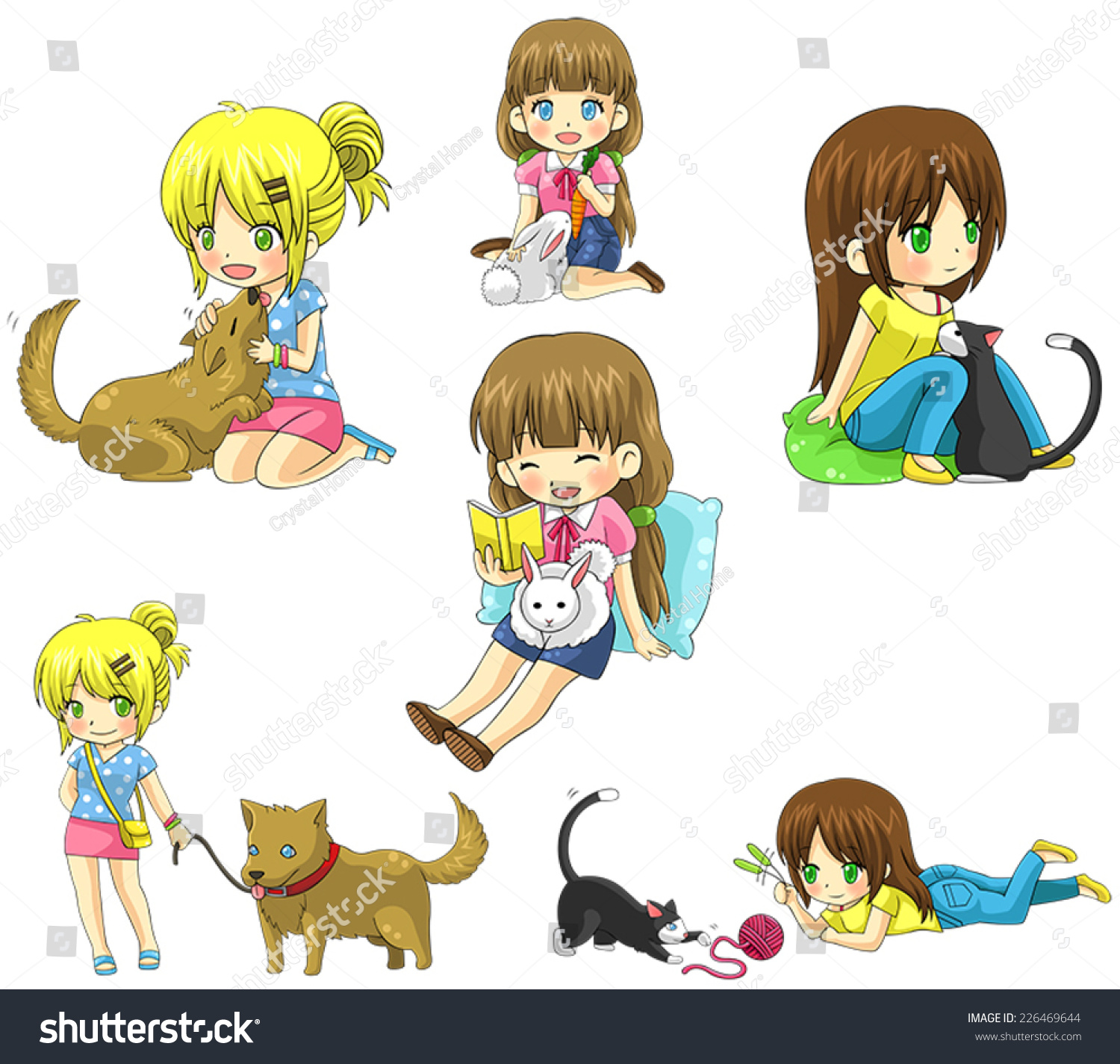 Clip Art Caring For A Kitten Cliparts