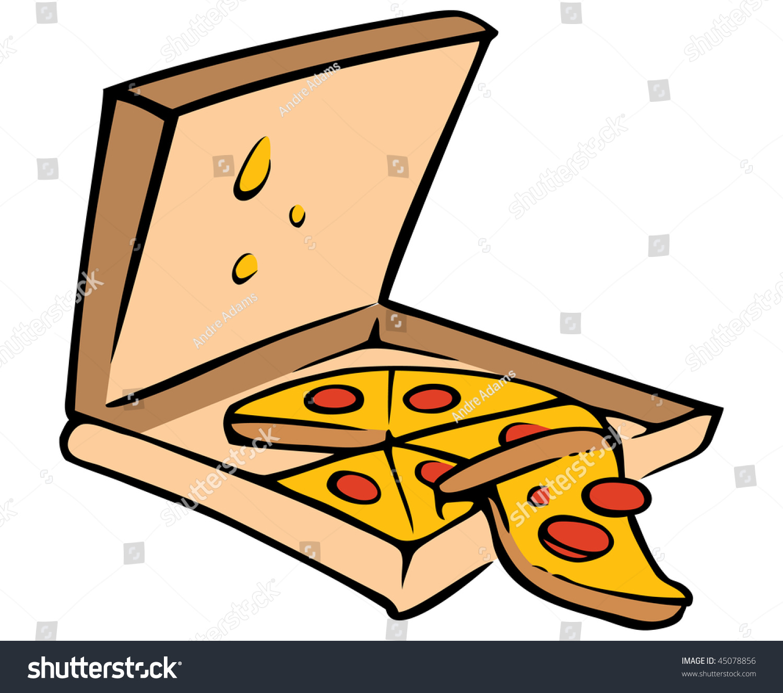 Cartoon Vector Illustration Pizza Box Stock Vector
