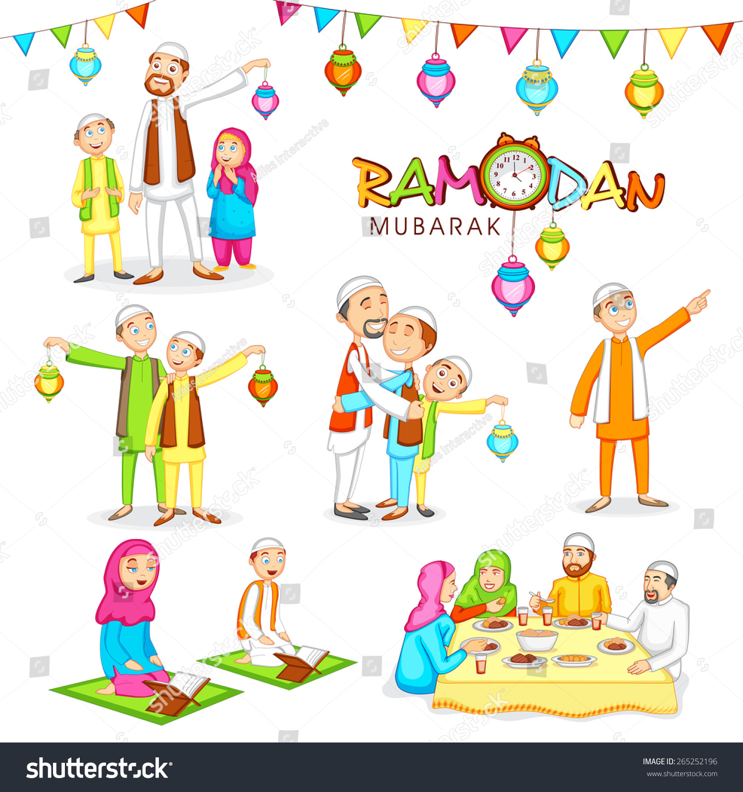 Celebrations Islamic Holy Month Prayers Ramadan Stock