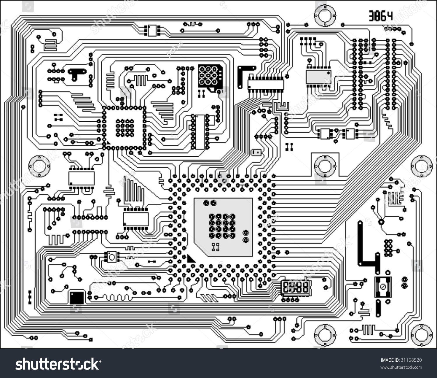 Circuit Board Electronic Background Mother Board Stock
