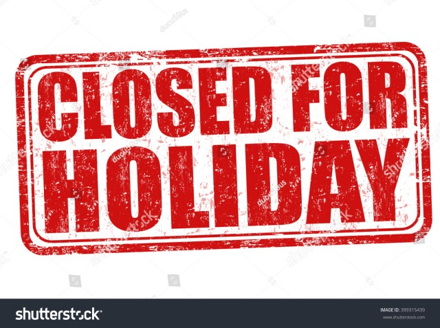 For New Years 2018 Office Closed Sign
