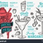 Cocktail Menu Template Restaurant Vector Illustration Stock Vector Royalty Free 1224820645