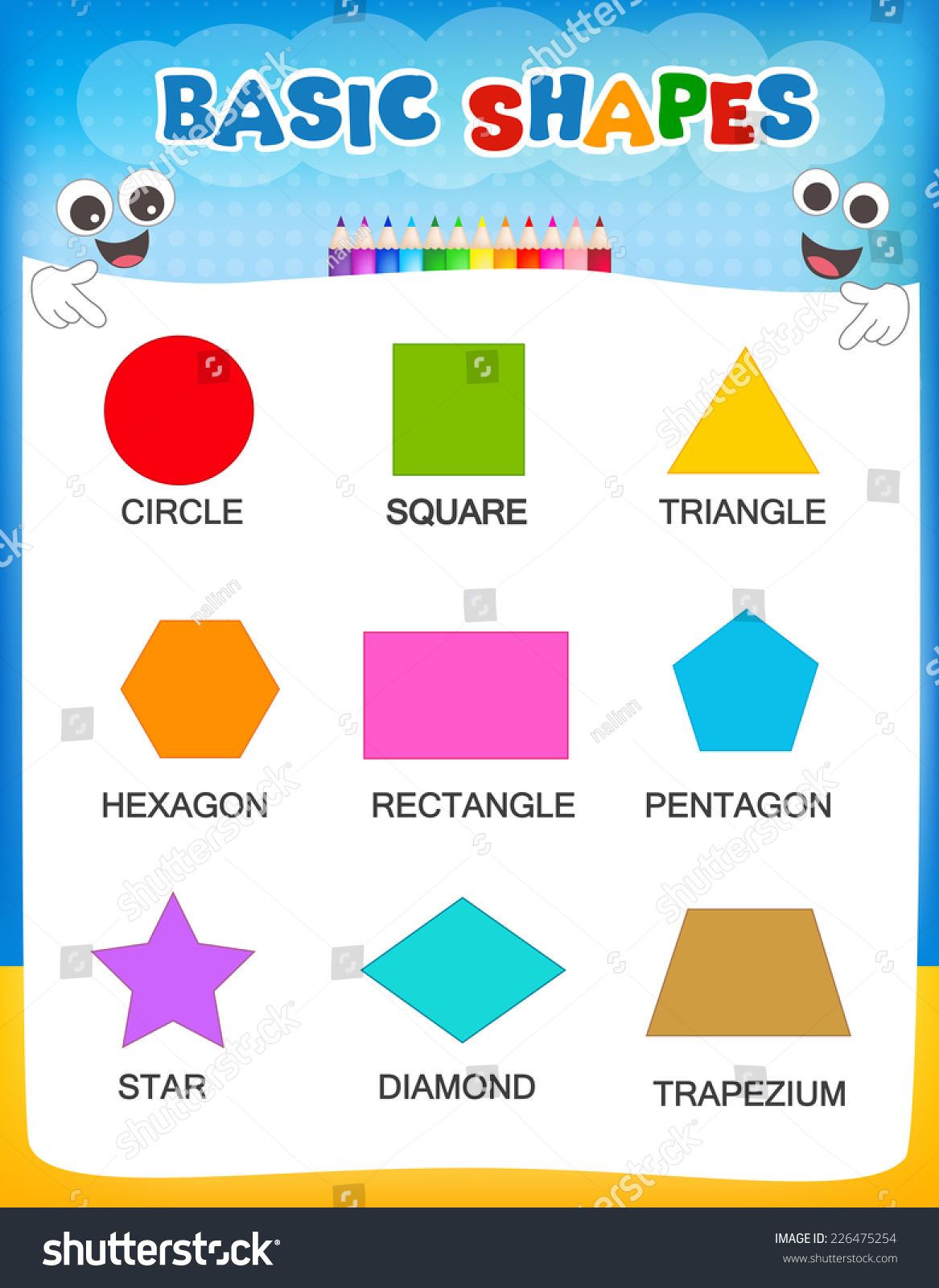 Shapes And Their Names Worksheet