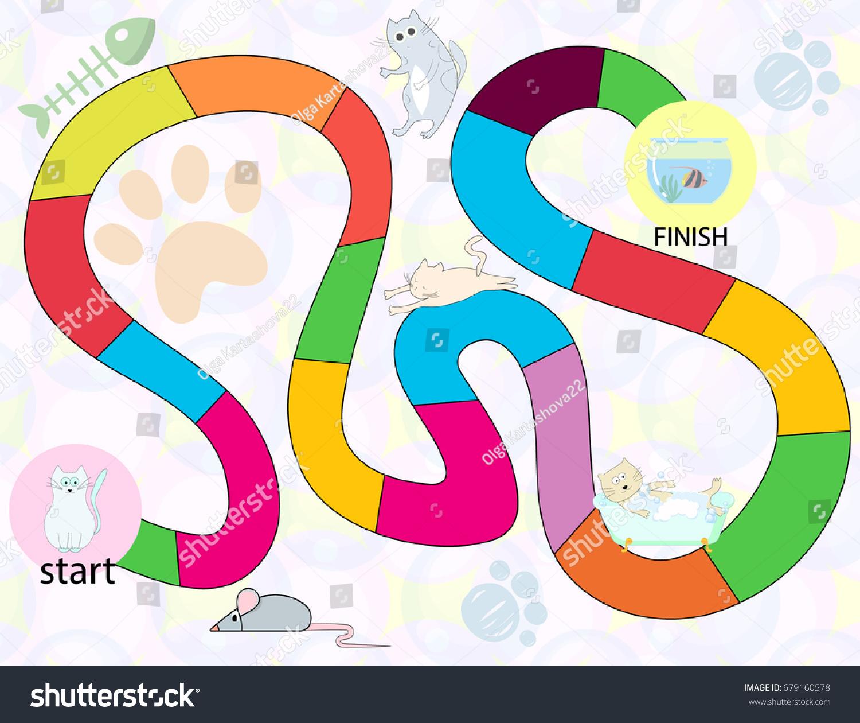 Color Board Kids Game Educational Children Stock Vector