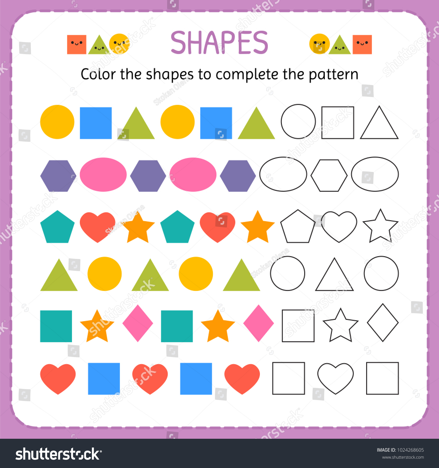 Preschool Worksheet Gallery August