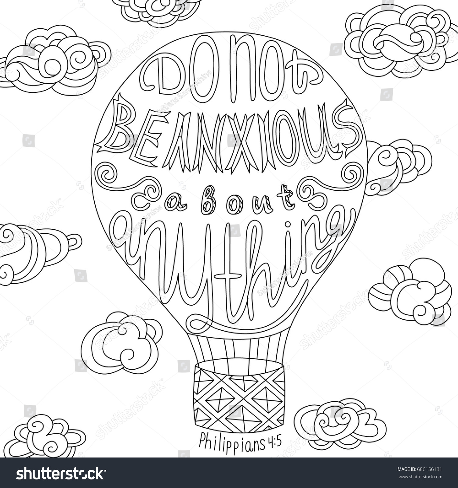 Coloring Page Motivational Quote Coloring Adult Stock