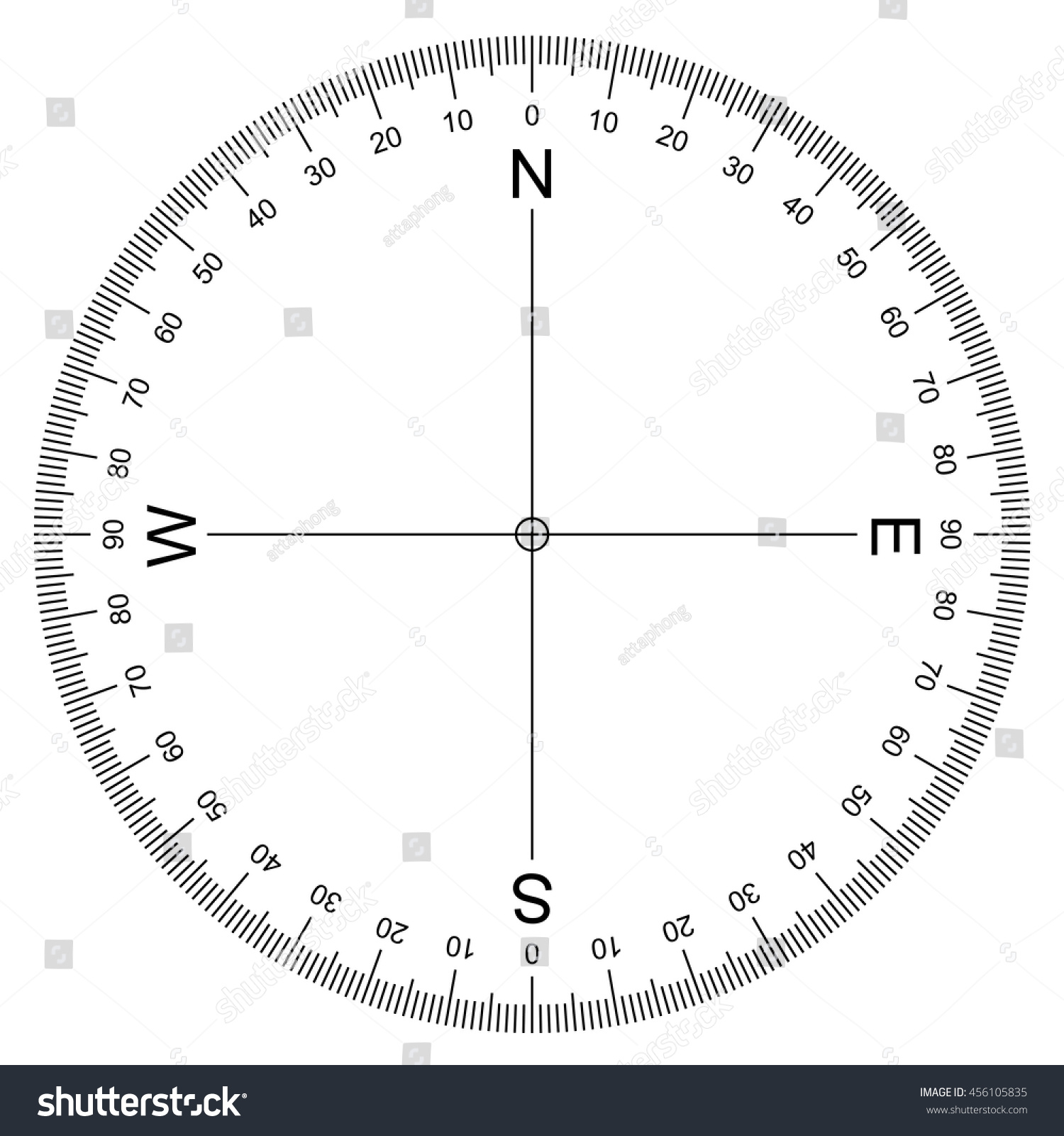 Protractor Print Out 360 Degrees Mixed Addition
