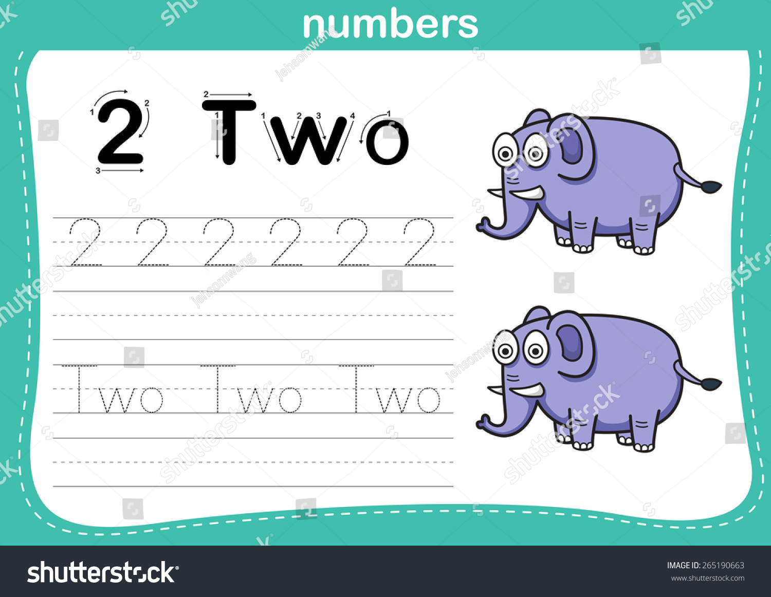 Connecting Dot Printable Numbers Exercise Lovely Stock