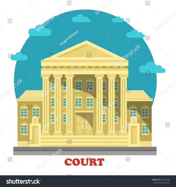 Court Tribunal Courthouse Entrance Exterior View Stock ...