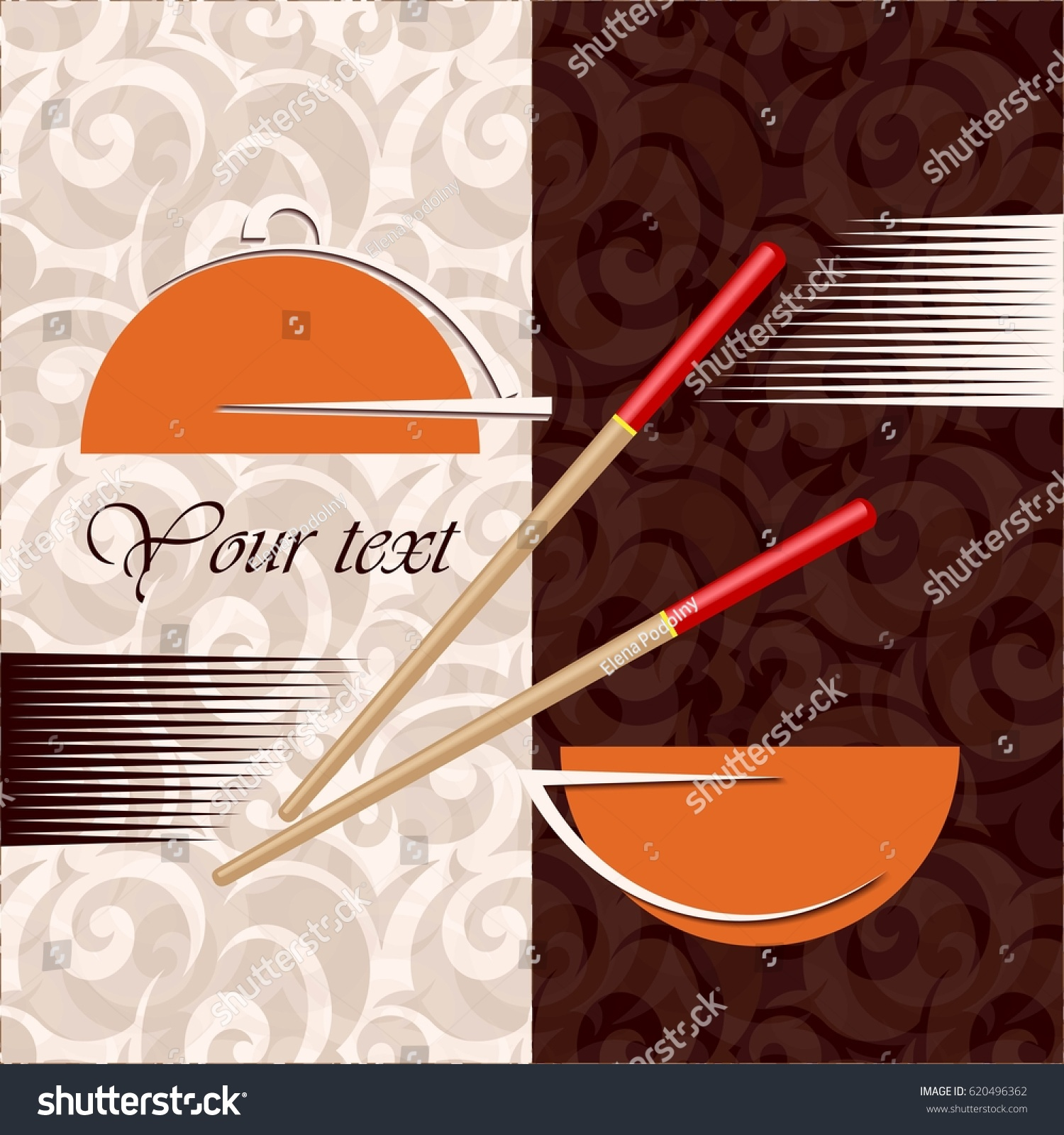 https www shutterstock com image vector creative concept asian restaurant cafe chopsticks 620496362