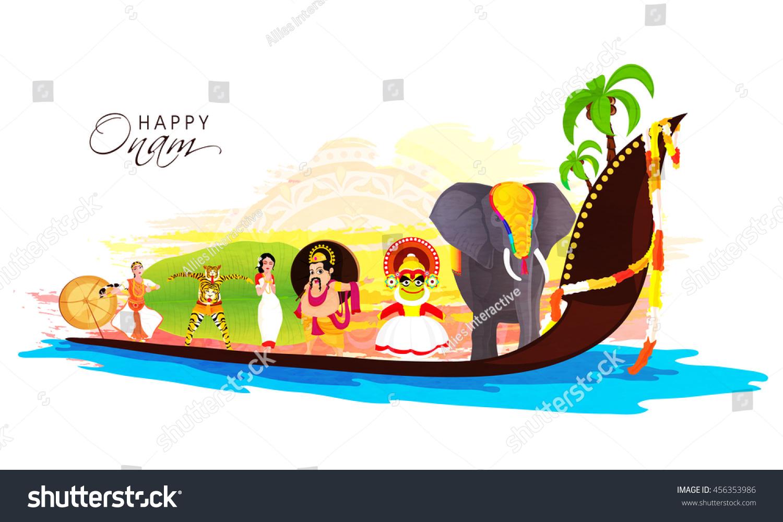 Culture Kerala Decorated Elephant Kathakali Dancer Stock