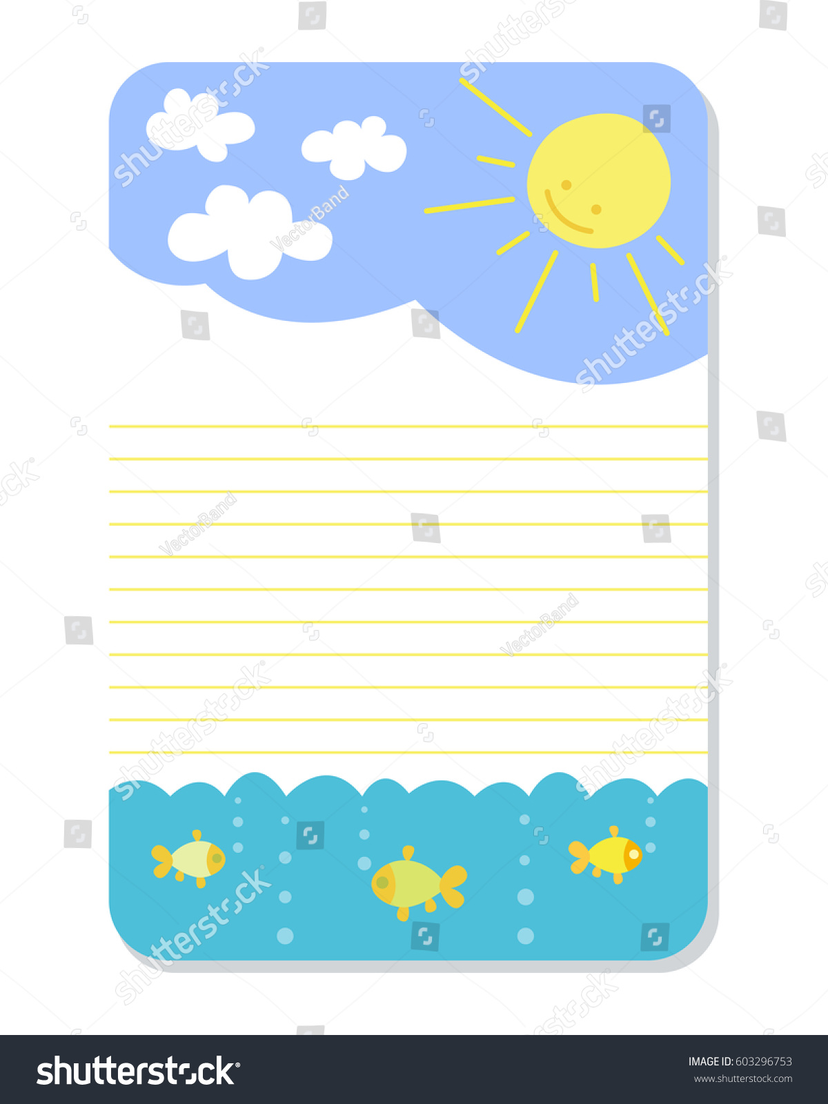 Cute Hand Drawn Doodle Birthday Party Stock Vector