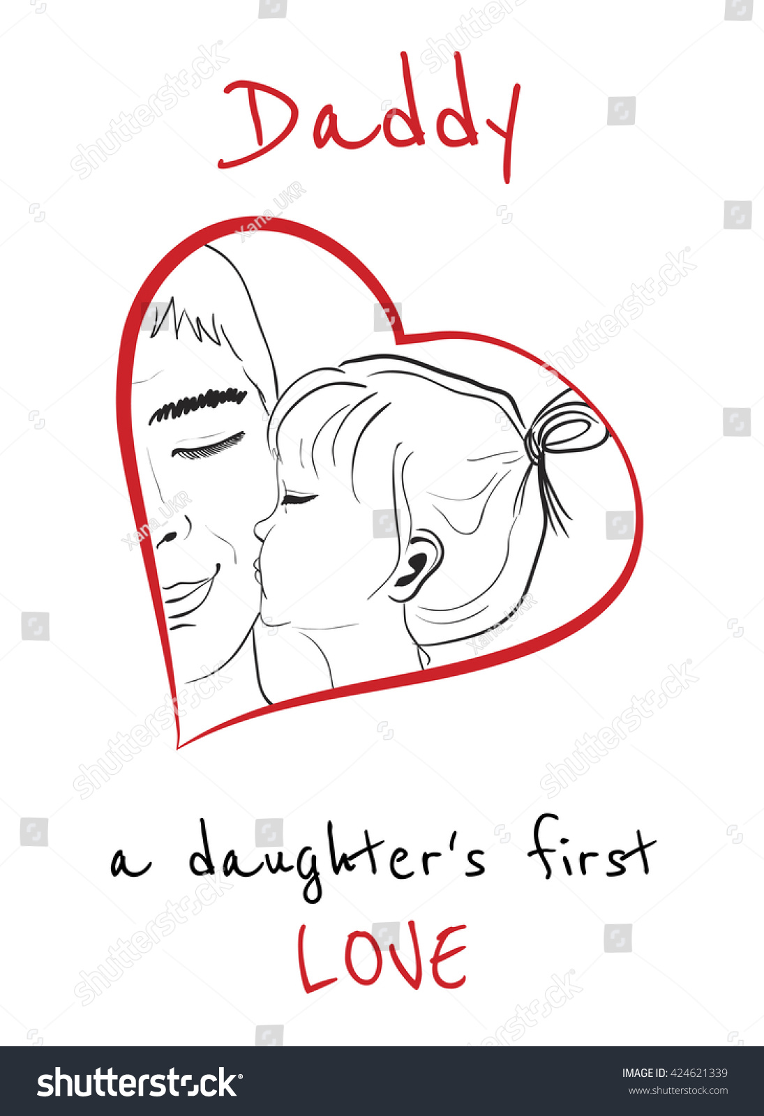 Download Daddy Is A Daughters First Love. Daughter Kissing Father ...