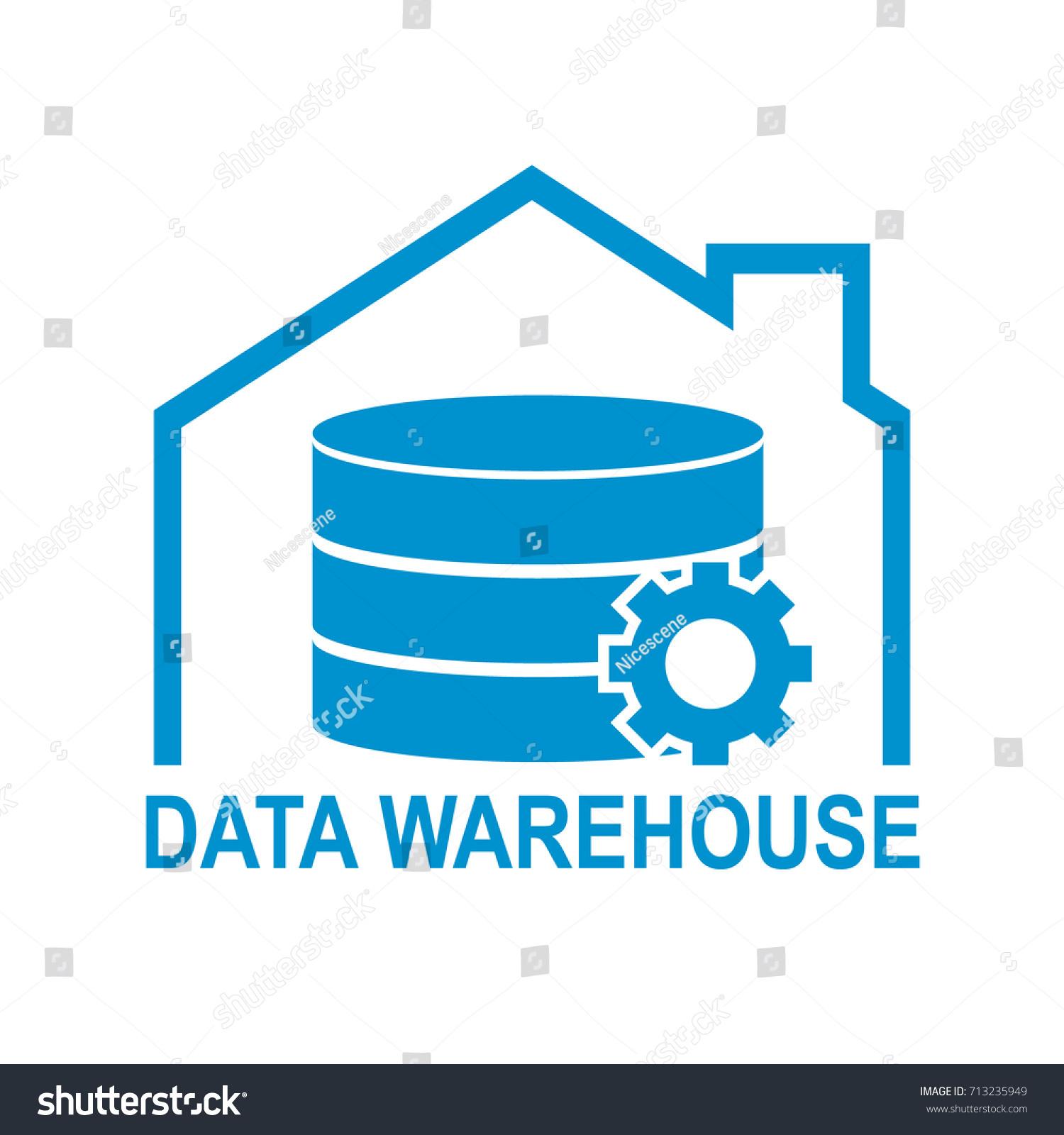 Data Warehouse Icon Logo Design Vector Stock Vector