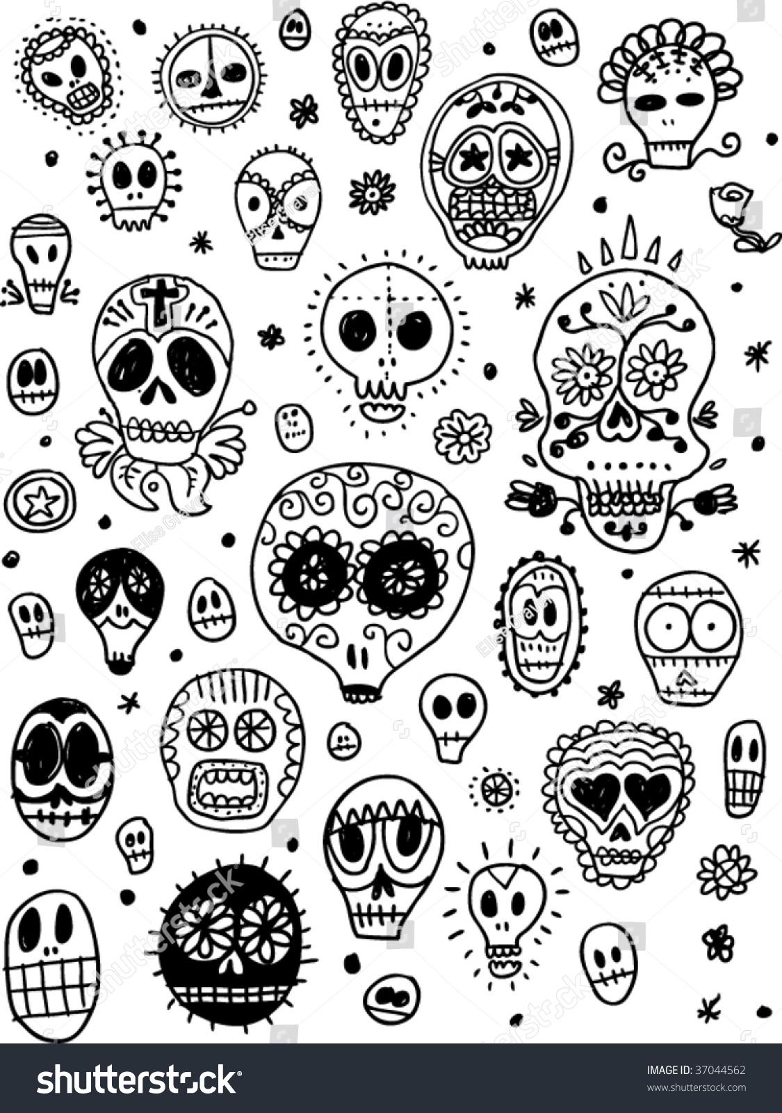 Day Dead Pattern Stock Vector 37044562 Shutterstock