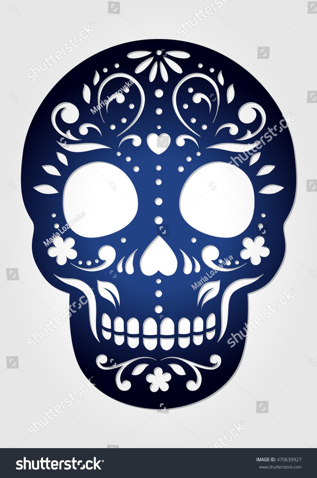 Decorative Ornamental Sugar Skull Laser Cutting Stock