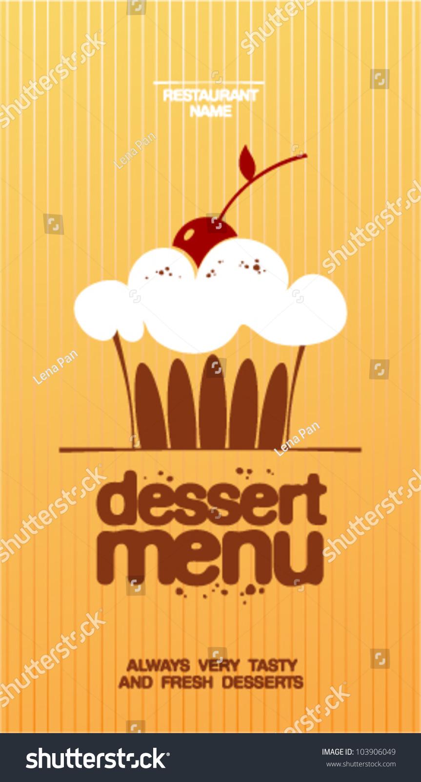 Dessert Menu Card Design Template Stock Vector 103906049 Shutterstock