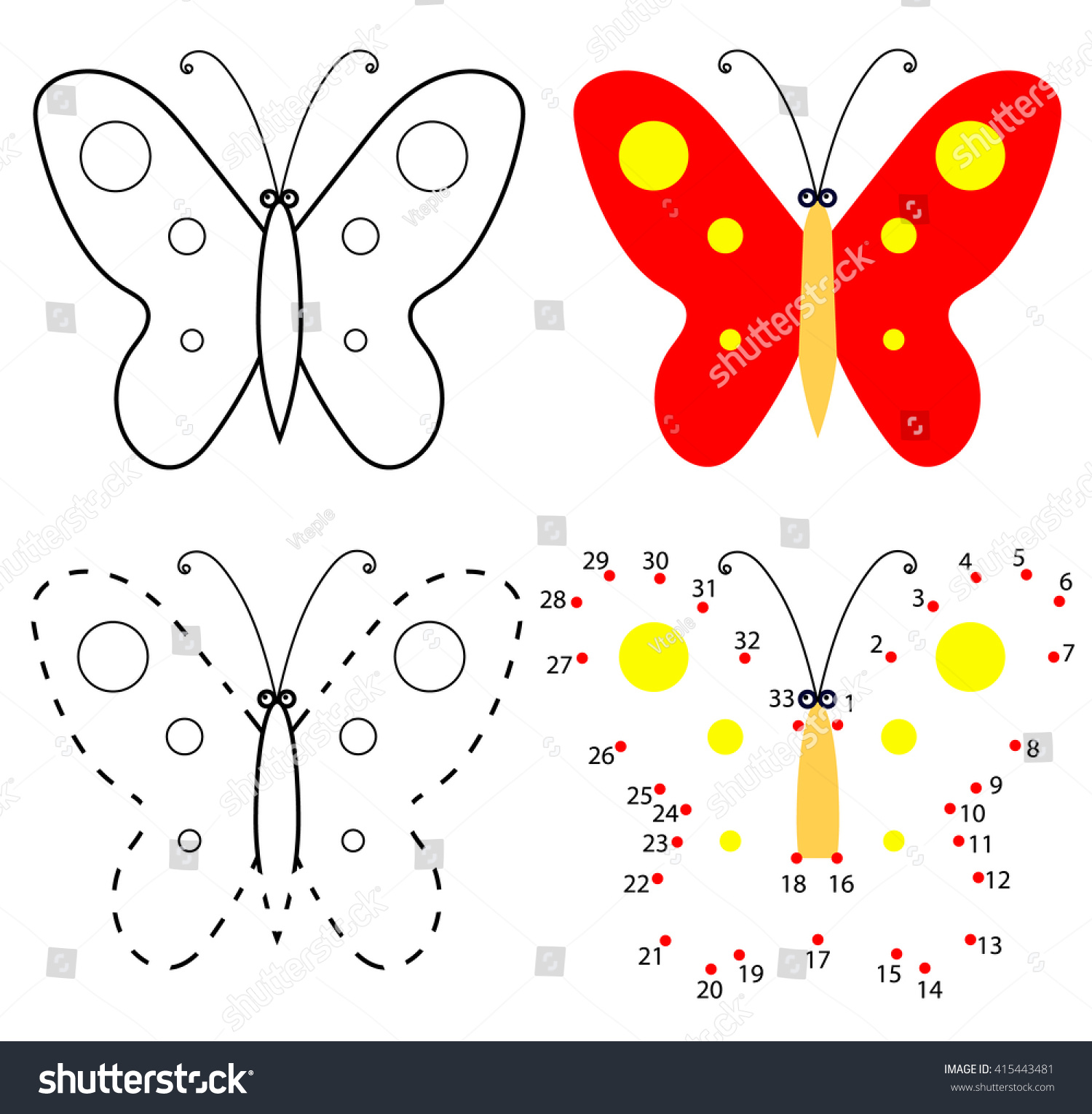 Butterfly Dot To Dot To 100