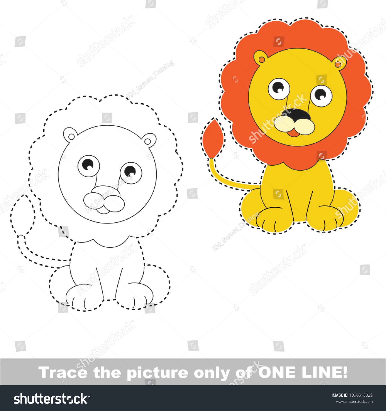 Cartoon Easy Lion Face Drawing For Kids