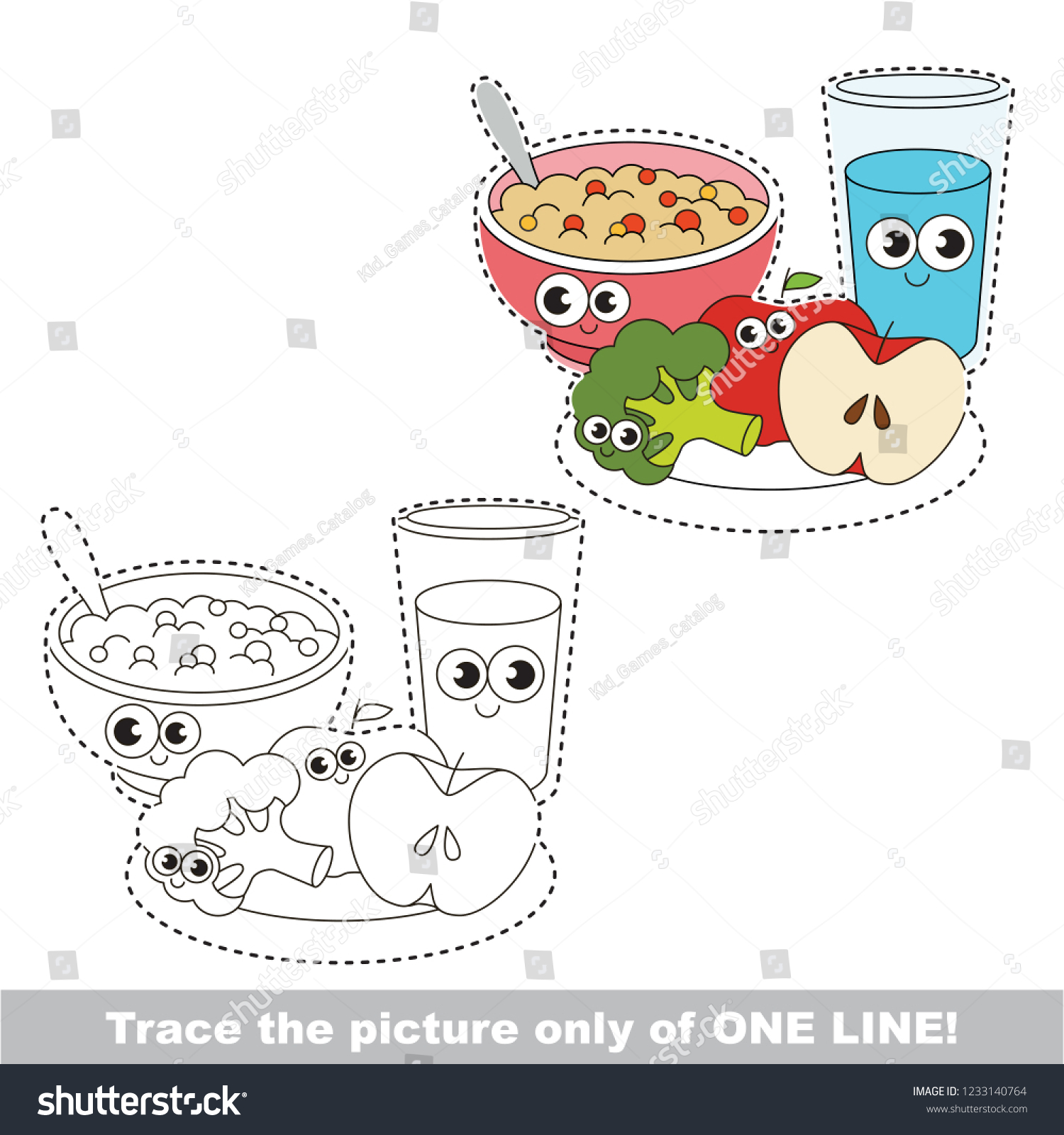 Healthy Food Drawing Easy For Kids Bisnis Perikanan