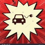 Eco Electric Car Sign Vector Dark Stock Vector Royalty Free