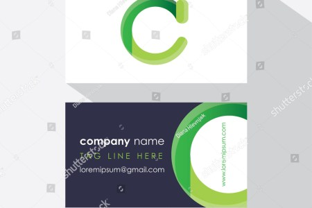 Ecology Business Card Template Front Back Stock Vector  Royalty Free     ecology business card template front and back side with green abstract logo  design  letter c