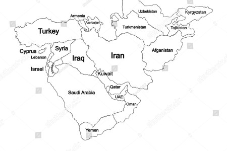 middle east countries blank map » Full HD MAPS Locations - Another ...