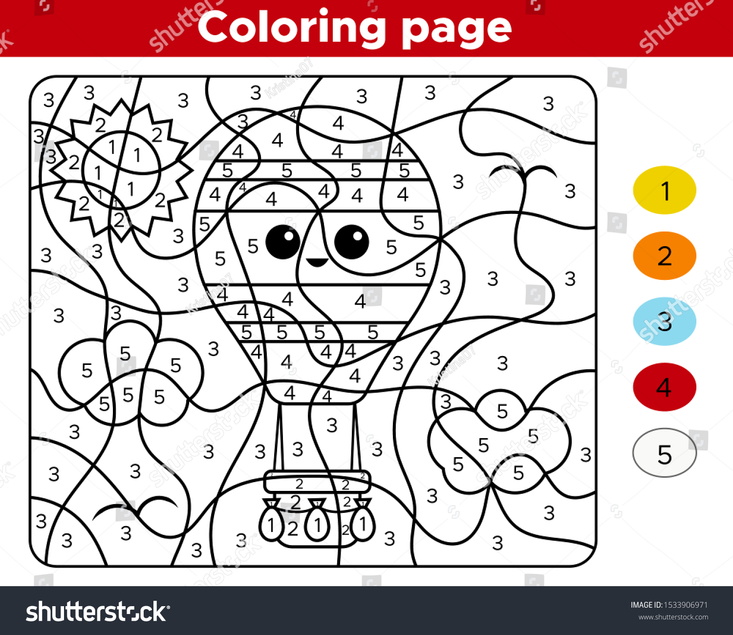 Number Coloring Worksheets For Preschoolers
