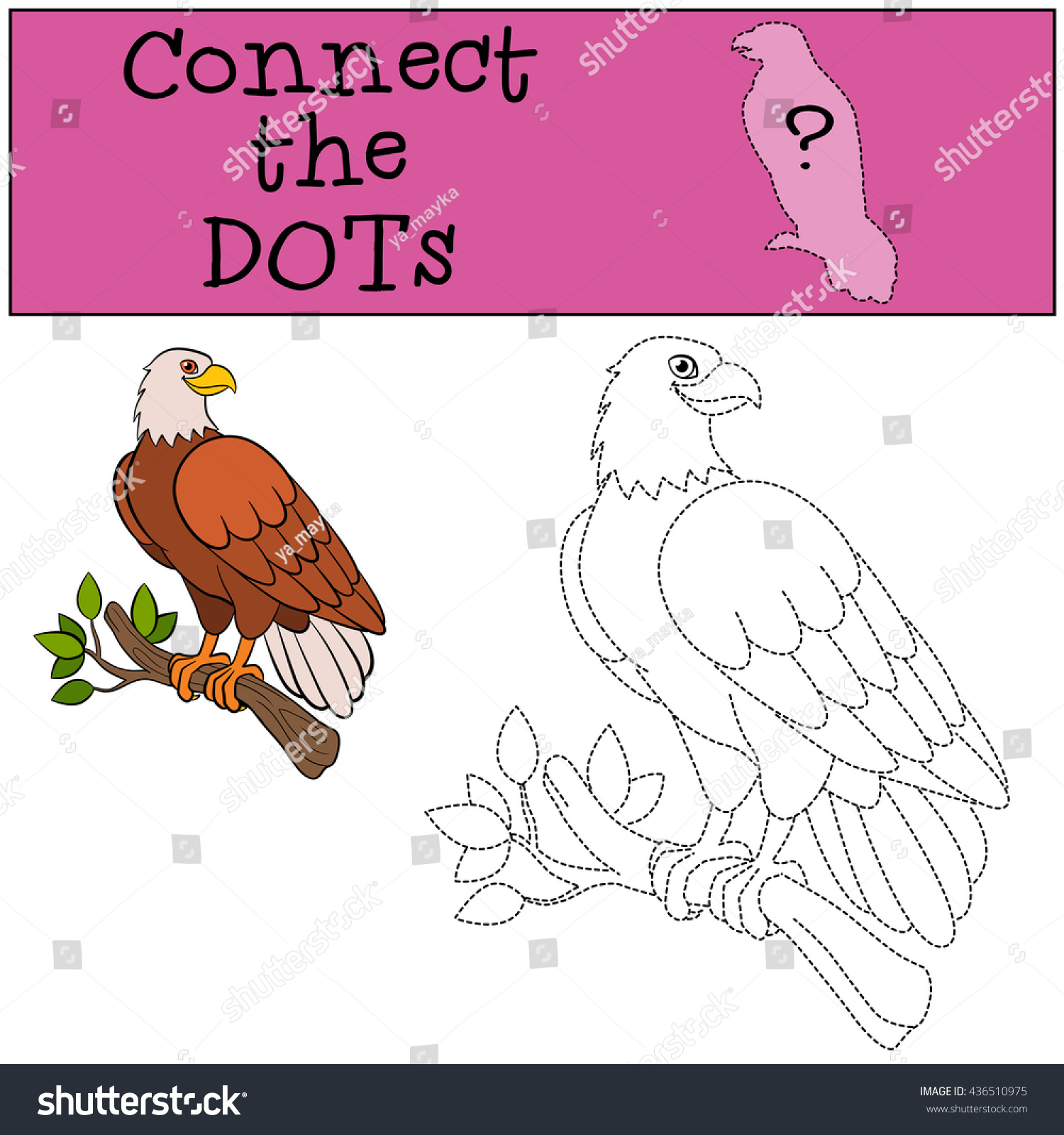 Educational Games Kids Connect Dots Cute Stock Vector