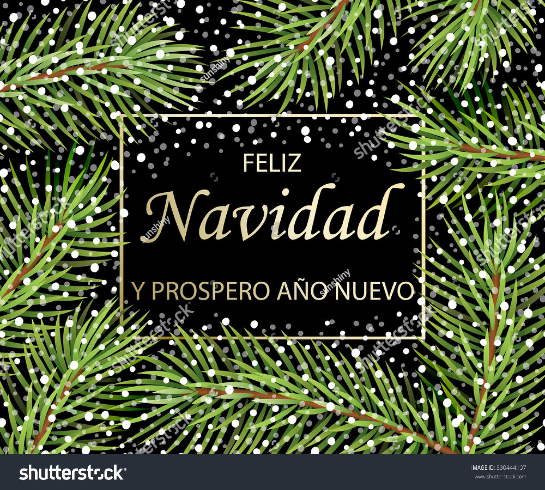 Feliz Navidad Y Feliz Ano Nuevo Stock Vector
