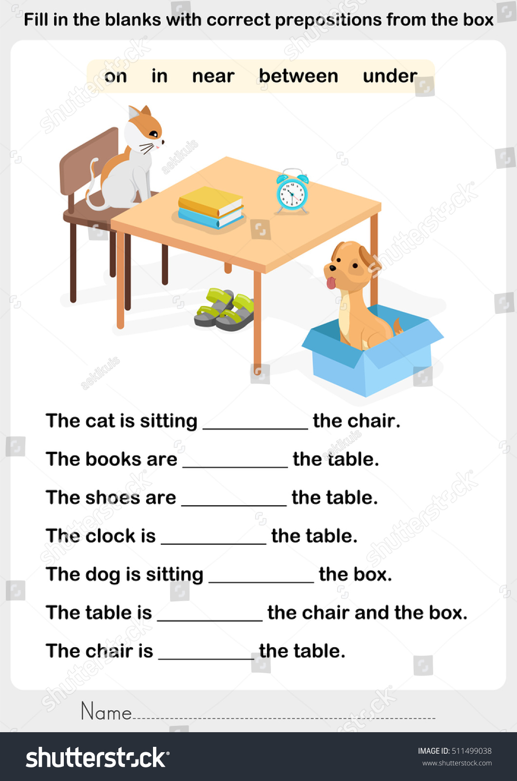 Identify The Preposition Worksheet
