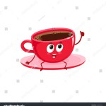 Vetor Stock De Funny Black Coffee Cup Character Sitting Livre De Direitos 523497337
