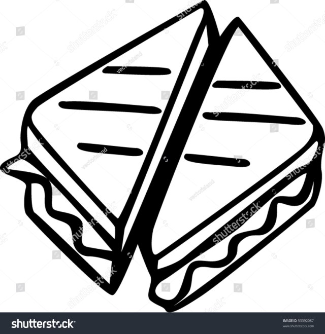 Grilled Cheese Sandwich Stock Vector (Royalty Free) 19