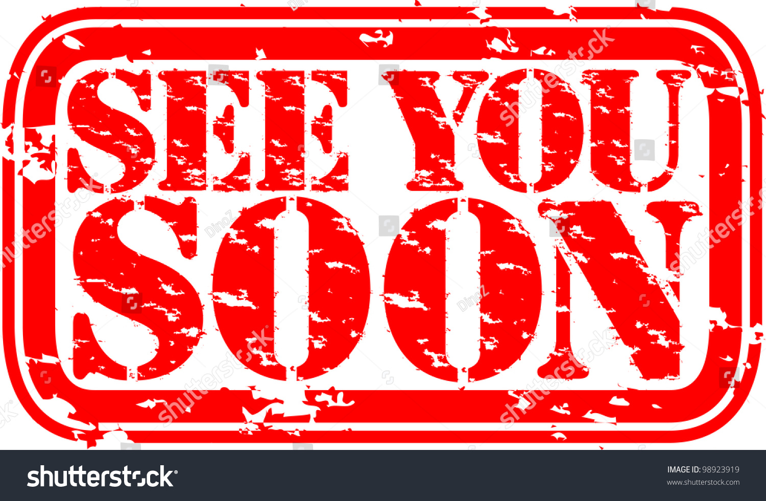 Grunge See You Soon Rubber Stamp Stock Vector
