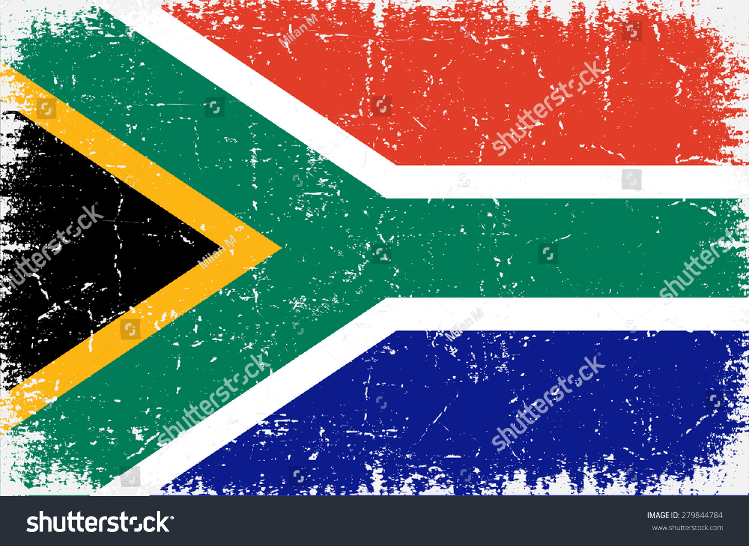 Grunge South Africa Flag South African Flag With Grunge