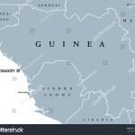 Vector De Stock Libre De Regalias Sobre Guinea Political Map Capital Conakry Republic677346361