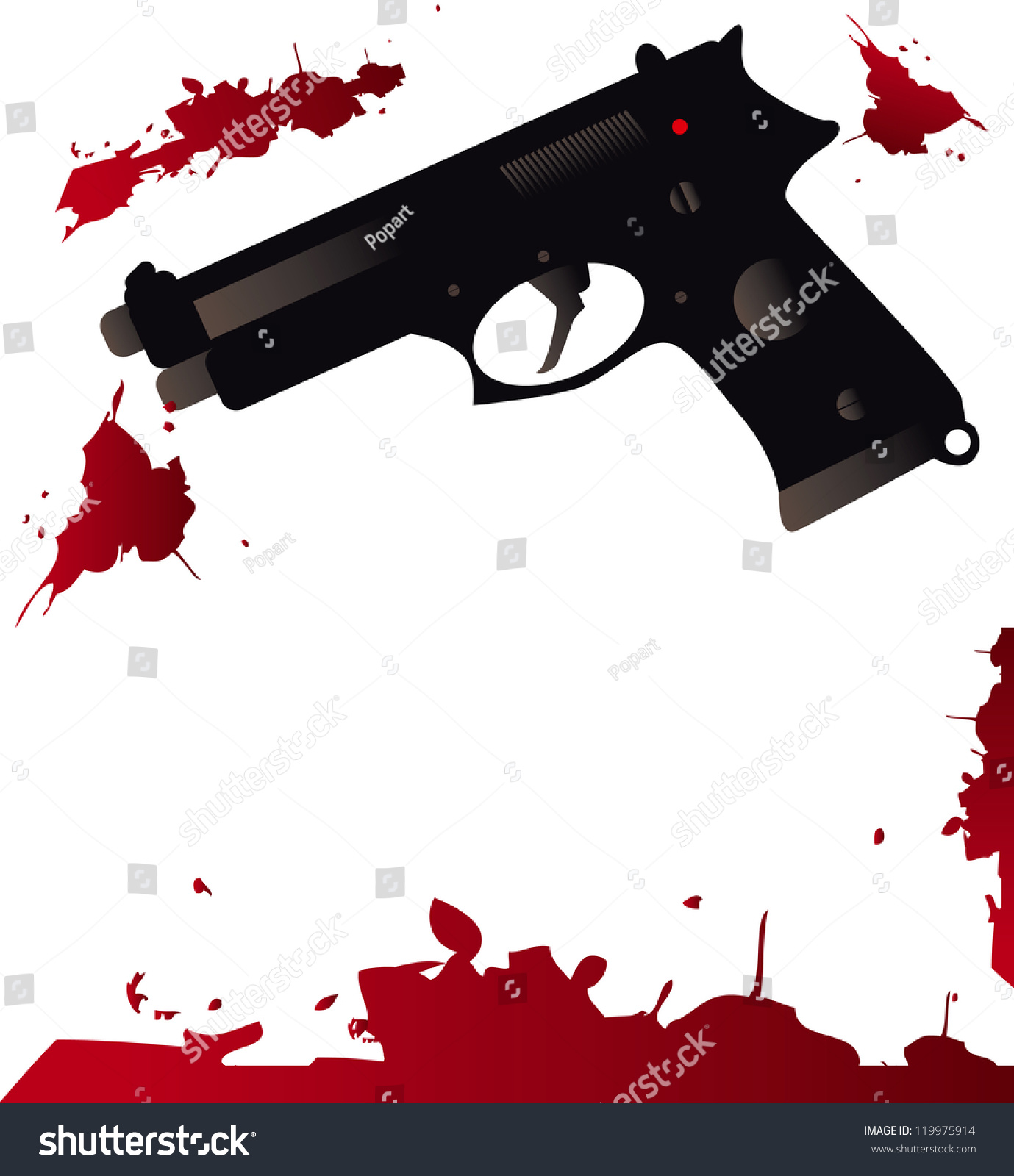 Blood Wallpaper Splatter Gun