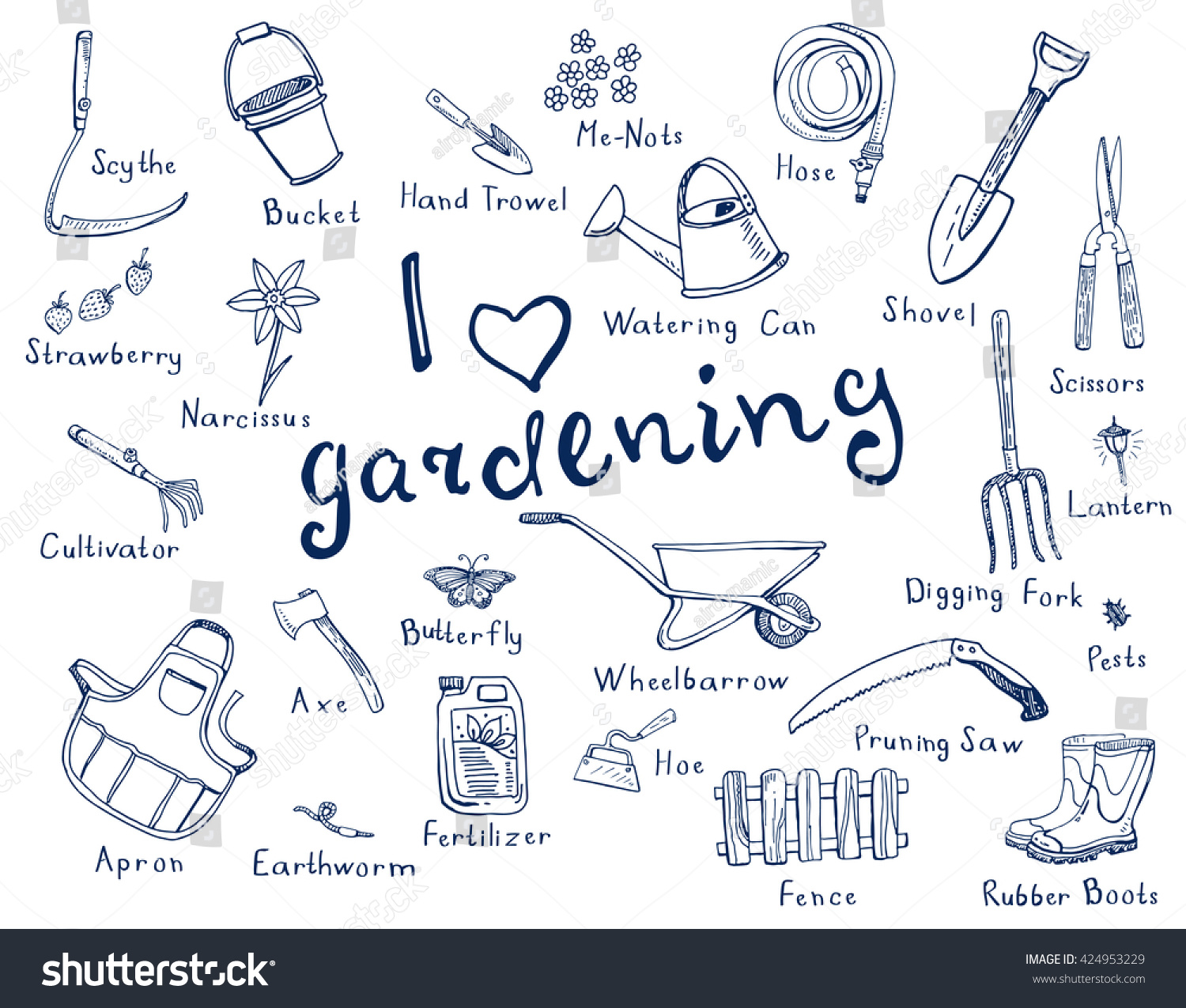Gardening Tools Names And Images