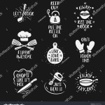 Hand Drawn Kitchen Quotes Set Phrases Stock Vector Royalty