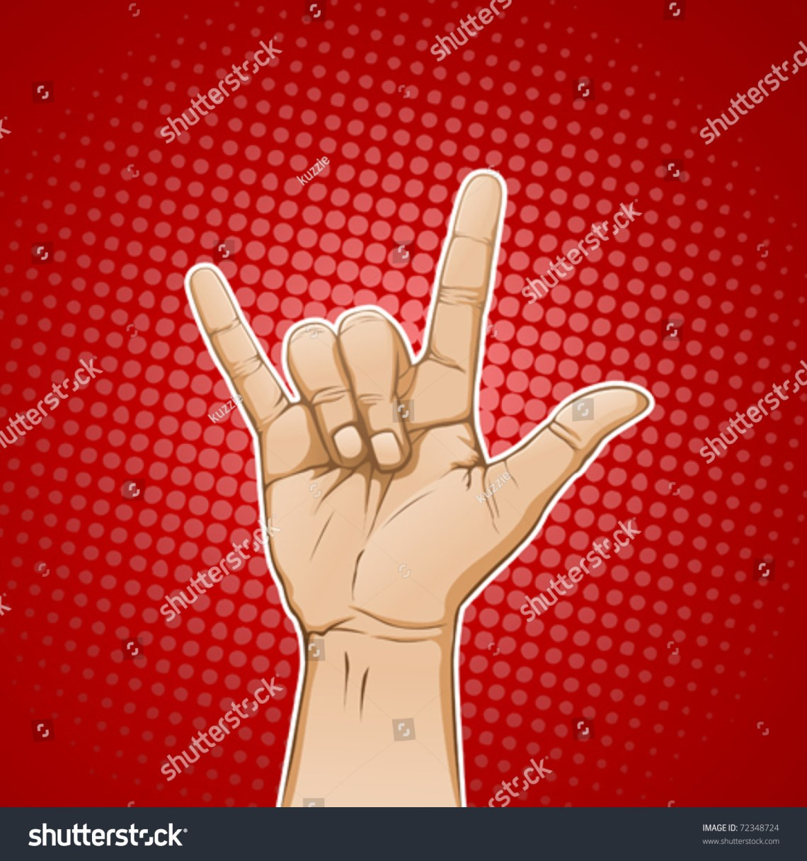 Download Hand In I Love You / Metal Sign Stock Vector 72348724 ...