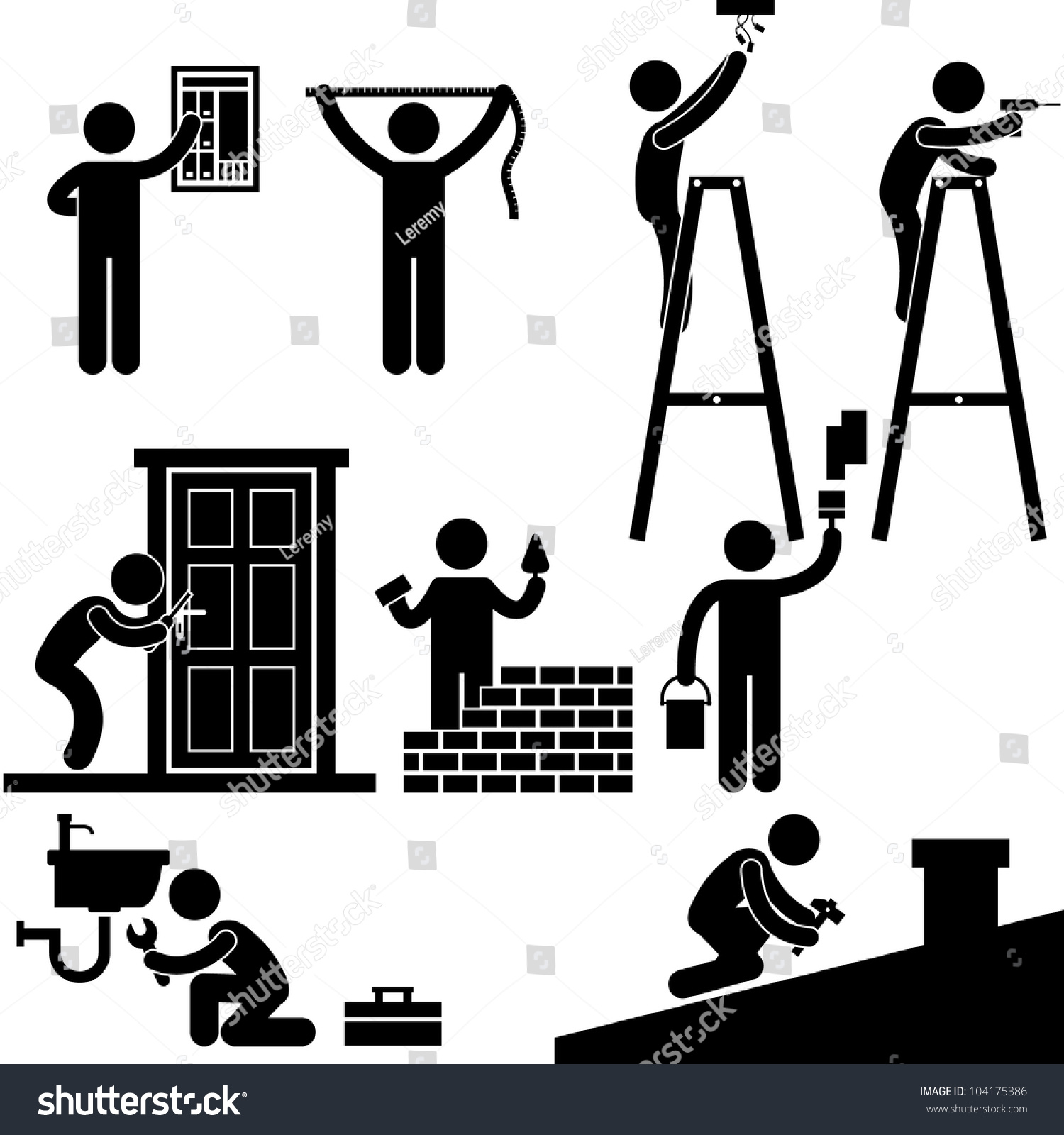 Stick Figure Clip Art Handyman