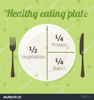 Healthy Eating Plate Diagram Vector Stock Vector 562151035