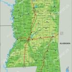Vector De Stock Libre De Regalias Sobre High Detailed Mississippi Physical Map Labeling1328919440