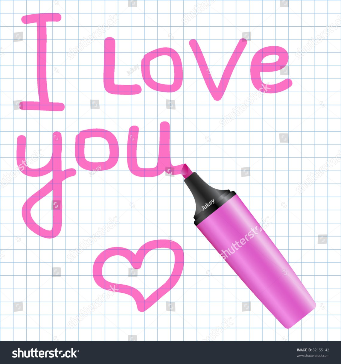 Download Love You Text Written Using Pink Stock Vector 82155142 ...