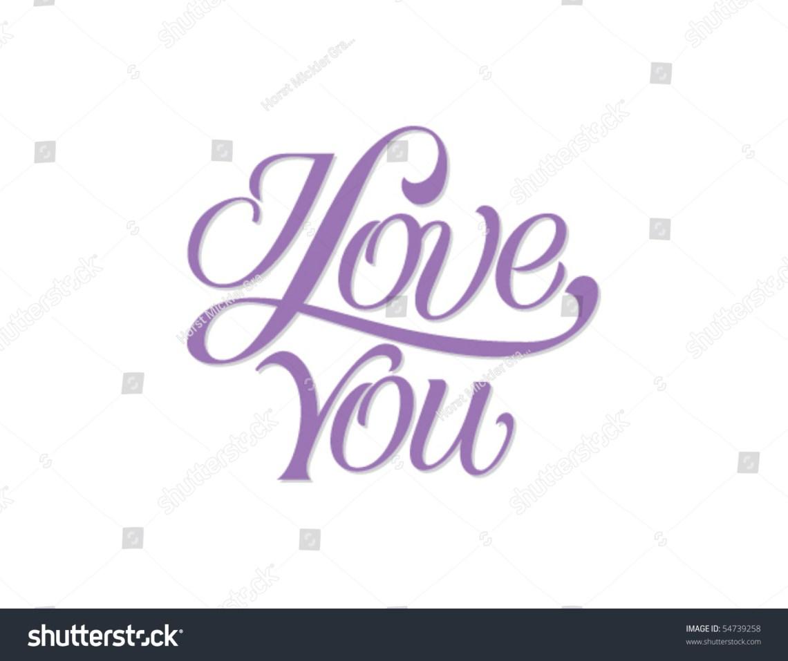 Download Love You Vector Lettering Stock Vector 54739258 - Shutterstock